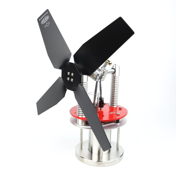 Stove Fan Stirling Engine Steelhead Red