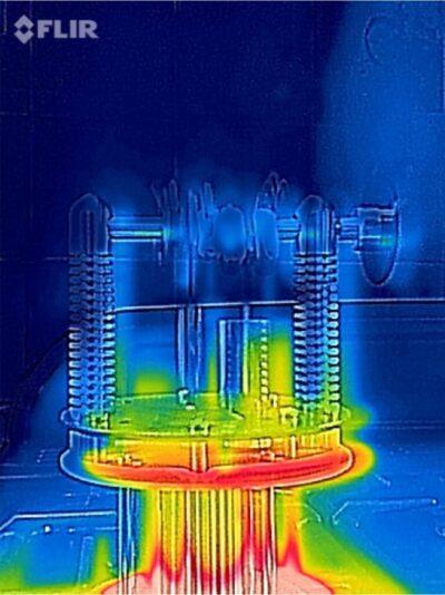 Thermodynamic performance test using FLIR camera