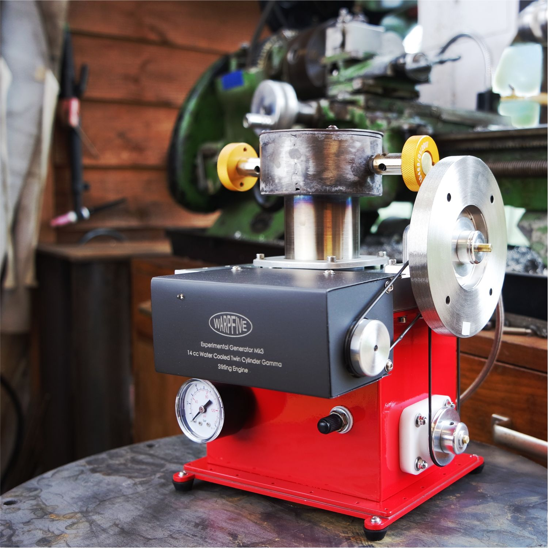 Warpfive Stirling engine projects