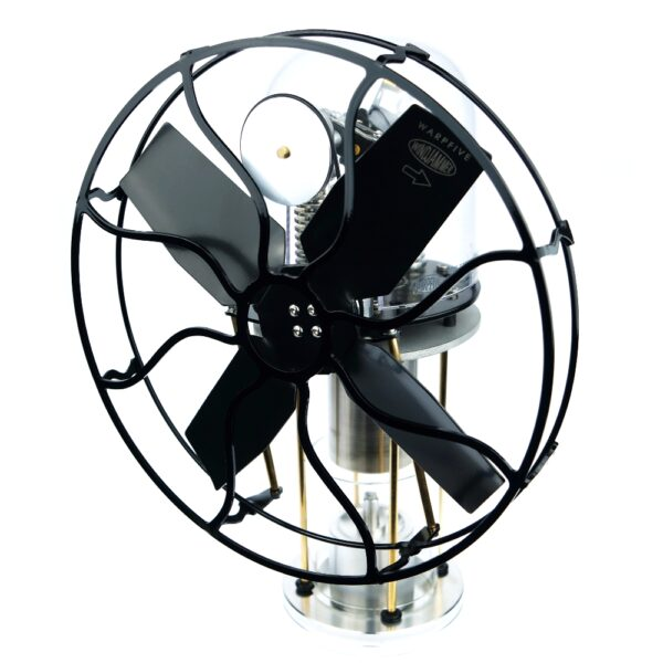Hot air Stirling engine fan