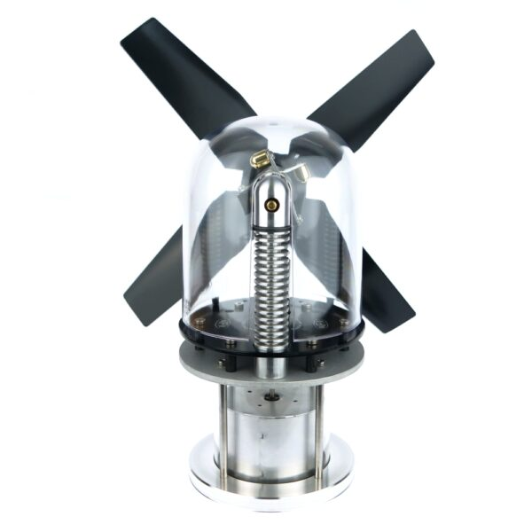 Stirling engine with clear glass cylinder - Glasshopper Stove Fan