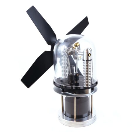 Low temperature Stirling engine stove fan - Glasshopper 2
